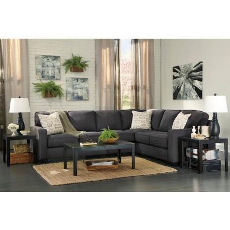 Alenya Charcoal Sectional Living Room Group