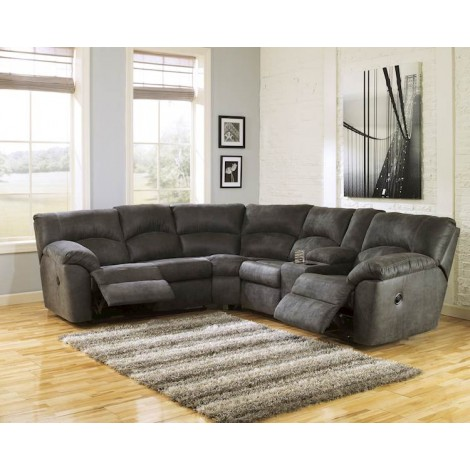 Tambo Pewter Sectional Living Room Group