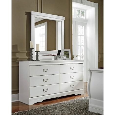 Anarasia White Bedroom Mirror