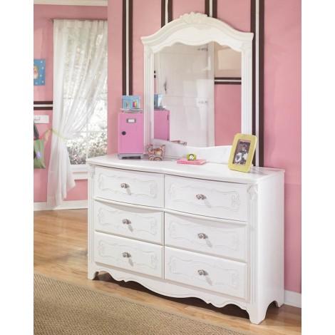 Exquisite White Bedroom Mirror
