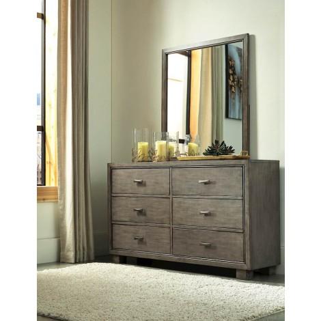 Arnett Gray Bedroom Mirror