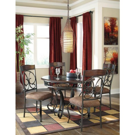 Glambrey Brown Table And (4) Chairs