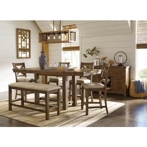 Moriville Grayish Brown Dining Room Set