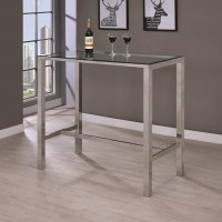 Clear Glass Bar Table