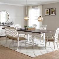 Linen Dining Room Bench