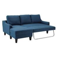 Jarreau Blue Sofa Chaise Sleeper