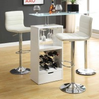 Glossy White Bar Table