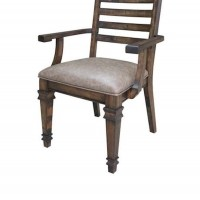 Brown Hot Pressed Dining Room Arm Chair