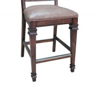 Brown Hot Pressed Dining Room Counter Height Chair
