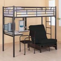 Twin Futon Workstation Loft Bunk Bed