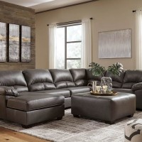 Aberton Gray Sectional Living Room Group
