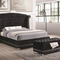 Barzini Bedroom Black California King Bed