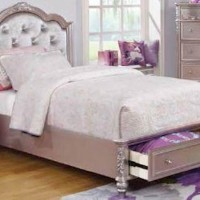 Caroline Metallic Full Bed
