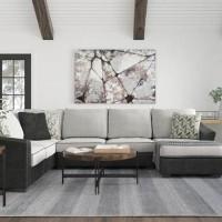 Bilgray Pewter Sectional Living Room Group