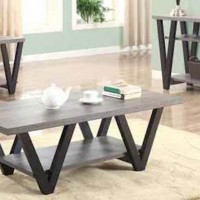 Black /Gray End Table