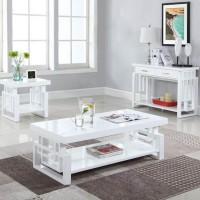High Glossy White Sofa Table