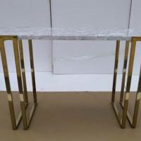 Italian White Sofa Table