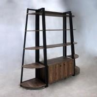 Aged Walnut Bookcase