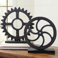 Dermot Antique Black Sculpture Set (Includes 2)