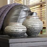 Devonee Antique Gray Jar Set (Includes 2)
