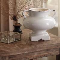Dierdra Antique White Urn