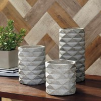 Charlot Gray Vase Set (Includes 3)