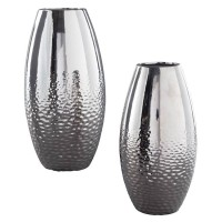 Dinesh Silver Finish Vase Set (Includes 2)