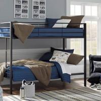 Broshard Black/White Twin/Twin Metal Bunk Bed