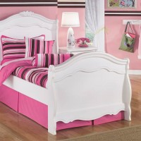 Exquisite White Twin Sleigh Bed with Underbed Storage