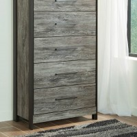 Cazenfeld Black/Gray Five Drawer Chest