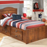 Barchan Medium Brown Twin Panel Bed with (1) Underbed Storage