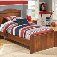 Barchan Medium Brown Twin Panel Bed
