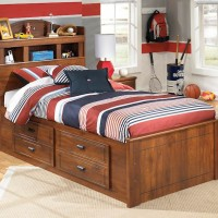 Barchan Medium Brown Under Bed Storage with Side Rail