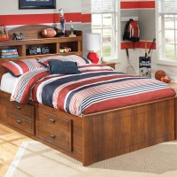 Barchan Medium Brown Full Bkc Bed with (1) Underbed Storage