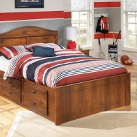 Barchan Medium Brown Full Panel Bed with (1) Underbed Storage
