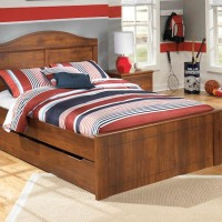 Barchan Medium Brown Full Panel Bed with Trundle