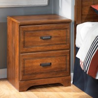 Barchan Medium Brown Two Drawer Night Stand