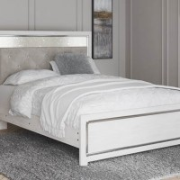 Altyra White Queen Panel Bed with Storage (Mattress Only Required)