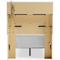 Altyra White Twin Bookcase Headboard Bed (Mattress And Foundation Required)