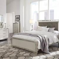 Lonnix Silver Finish Bedroom Set