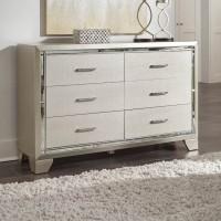 Lonnix Silver Finish Dresser