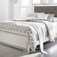 Lonnix Silver Finish Full Bed