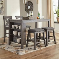 Caitbrook Gray Dining Room Set