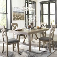Aldwin Gray Table And (4) Side Chairs