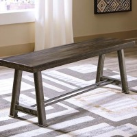 Wollburg Brown Large Dining Room Bench