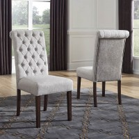 Adinton Reddish Brown Dining Upholstered Side Chair (Includes 2)