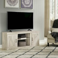 Bellaby Whitewash LG TV Stand with Fireplace Option