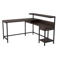 Camiburg Warm Brown L-Desk with Storage