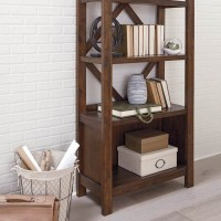 Baldridge Rustic Brown Large Bookcase