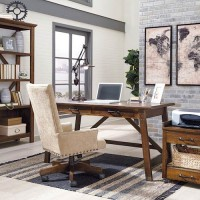 Baldridge Rustic Brown Office Set